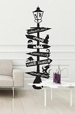 Fandom lamp sign post CUTOMIZABLE V2 wall decal inspired by