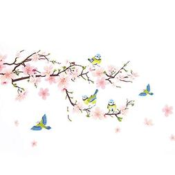Wopeite Floral Wall Decal Sticker Self - Adhesive Flower Pea