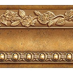 FLOWER MOLDING PEEL AND STICK WALL BORDER EASY TO APPLY WALL