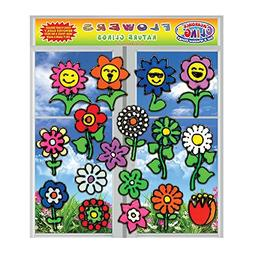 Flowers Flexible Gel Clings - Window Clings for Kids and Adu
