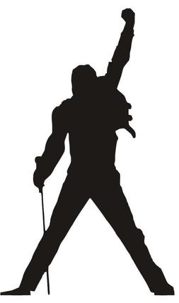 freddie mercury vinyl decal queen car sticker
