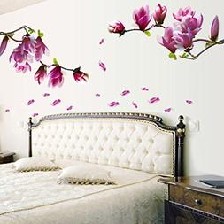 Coromose® Fresh Magnolia Flower Decal Removable PVC Wall St