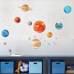 Outer Space Planet Wall Decal Removal Vinyl Quotes Wall Stic