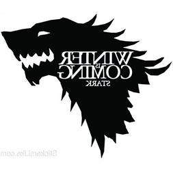 Game of Thrones House Stark Wolf Vinyl Sticker Decal HBO Win