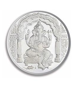 Ganesh Pure Silver 999 Religious Coin 10 Gms Beautiful Desig