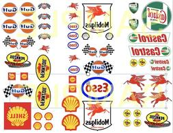 Gas & Oil  water-slide decals 1:64, 1:32, 1:24 scale model c