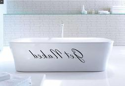 Get Naked Vinyl Wall Decal Quote Sticker Bathroom Shower Sta