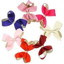 Genda 2Archer Girls Bow Tie Hair Bow Clips Barrettes Pack of