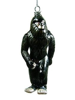 New Glass Black Bigfoot Sasquatch Ape-like Christmas Tree Or