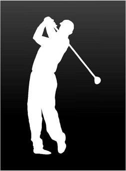 Golf Player Vinyl Decal Car Window Laptop Golfer Sticker
