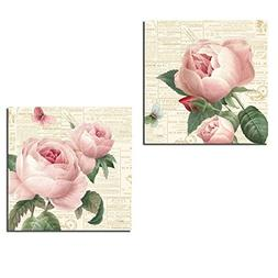 Gorgeous Pink Floral Rose, Bud and Butterfly Prints by Katie