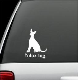 got xolo? White Decal Sticker Dog Bumper Laptop Car White De