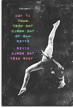 """Gymnastics Motivational Poster 04 """"If you want the best..."""""""