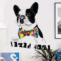 IceyDecaL Hand-Painted French Bulldog Animal Wall Decor Deca