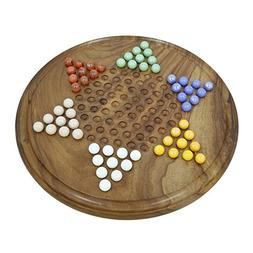 Shalinindia Handmade Chinese Checkers Wooden Game Set With G