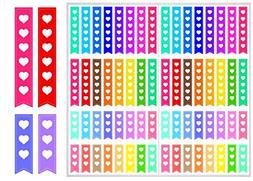 2 Sheet Pack of Heart Checklist Planner Stickers **Free Ship