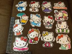 hello kitty sticker 14 pcs thin vinyl