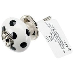 Heritage Hardware Ceramic Knob-Round Black And White