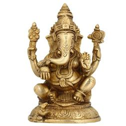 Hindu God Statues Ganesh Indian Religious Home Decoration Pu