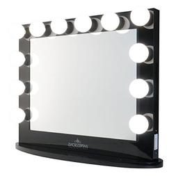 Hollywood Iconic XL Plus BLACK Vanity Mirror by Impressions