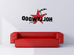 Hollywood Star and Film Strip Vinyl Wall Words Decal Sticker