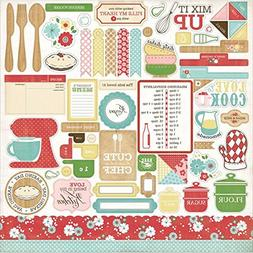 "Homemade With Love Cardstock Stickers 12""X12""-Element"