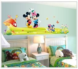 HUGE mickey & minnie mouse Removable Wall Stickers Decal Kid