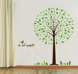 Hunnt® Happy Tree Wall Sticker Decal Ideal for Kids Room Ba