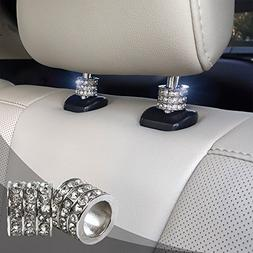 Icy Crystal Car Seat Headrest Decoration Charms, Bling Car A