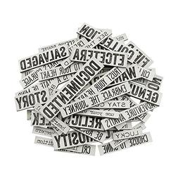 Tim Holtz Idea-ology Quote Chips Chipboard Words & Phrases D