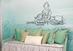 Inspired by The Little Mermaid Wall Decal Sticker Princess Sleeps