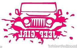 Jeep Decal Jeep Girl Muddy Decal Sticker