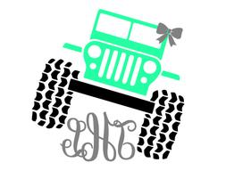 JEEP Monogram decal sticker for car window Yeti tumbler RTIC