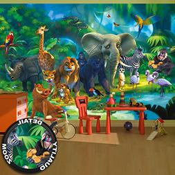 Wall Mural Animals Mural Decoration Jungle Animals Zoo Natur