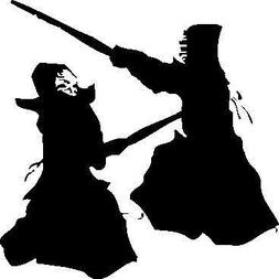 KENDO FIGHTERS CAR DECAL STICKER, Dk Blue, 6 In, Die Cut Vin