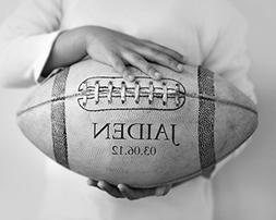 Kids Room Sport Decor Personalized Football Print, Custom Bo