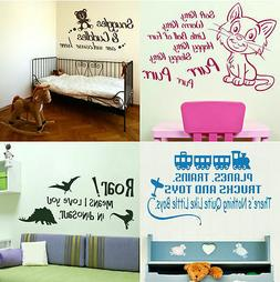 KIDS WALL STICKERS! Childs Bedroom Sticker, Nursery Quote tr