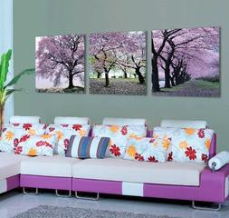 Mon Kunst Cherry Blossom Trees Large Wall Art Canvas Picture