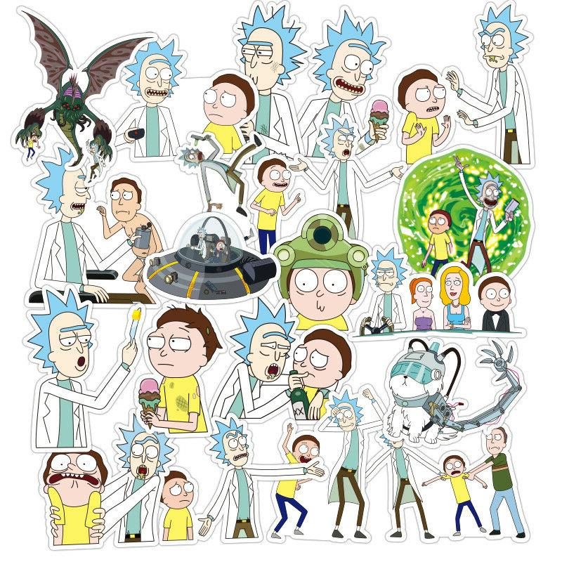 100Pieces Rick&Morty Wall Guitar Character