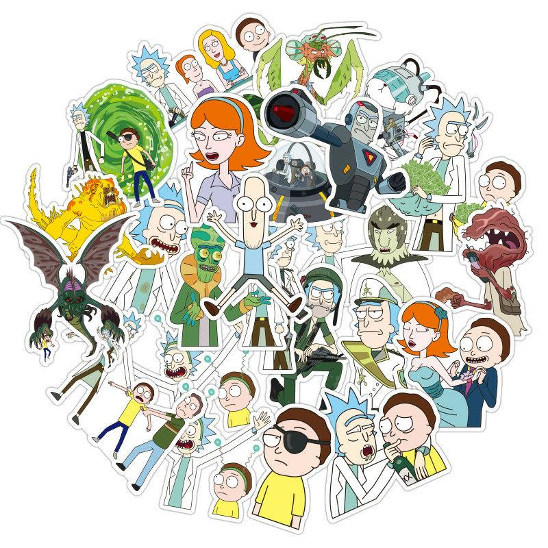 100Pieces Rick&Morty Wall Guitar Character Decoration