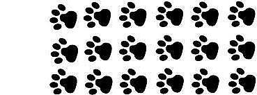 18 small dog paws paw print decal