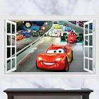2017 Huge 3D Cars McQueen removable Wall Stickers Decal Kids