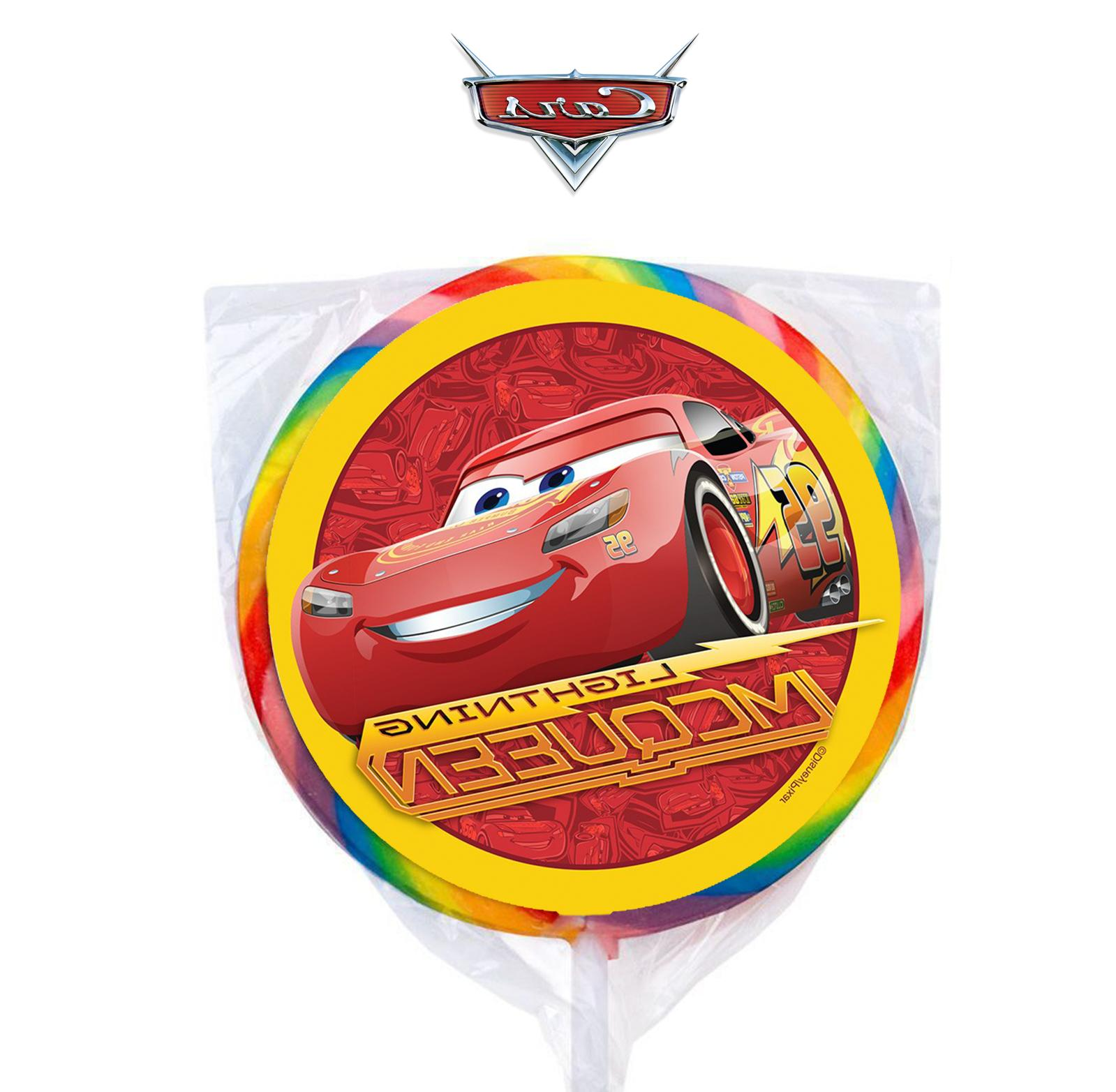 24 disney cars lightning mcqueen stickers round