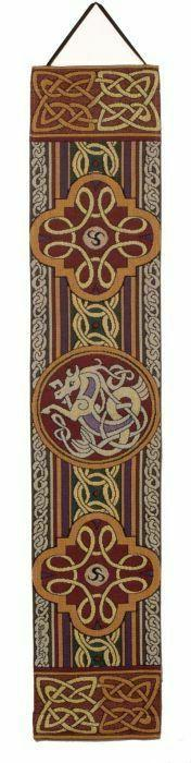 "38"" CELTIC CROSS Irish Bell Pull Tapestry Wall Hanging"