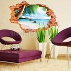 Removable 3D Beach Sea Wall Sticker Decal Art Decor Home Roo