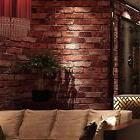 3D Red Brick Wallpaper Roll Retro Stone Brick Wall Backgroun