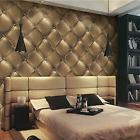 3D Vintage Gold Leather textured wallpaper Vinyl Mural Reali