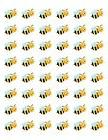 """48 BUMBLE BEE ENVELOPE SEALS LABELS STICKERS 1.2"""" ROUND"""