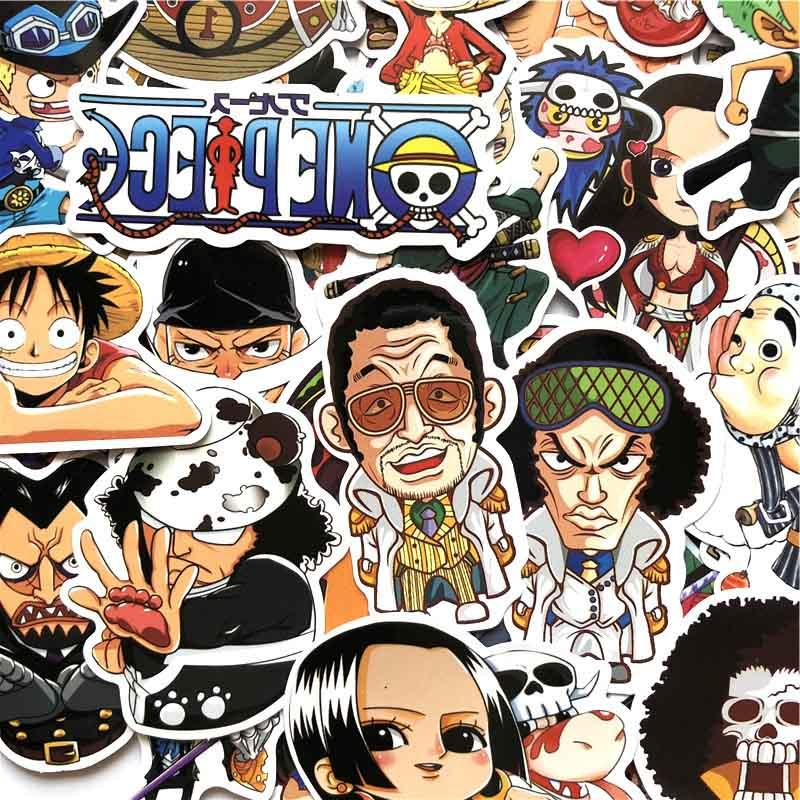 60 Pcs/Lot ONE PIECE Luffy Stickers For PVC Backpack Pad Bicycle waterproof <font><b>Decal</b></font>