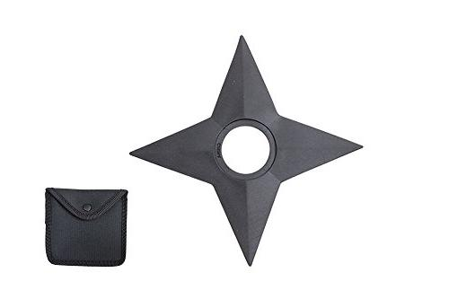 Hero's Edge 4 Point Rubber Throwing Star with Pouch